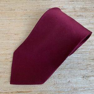 🍁 Murano Solid Burgundy Silk Tie